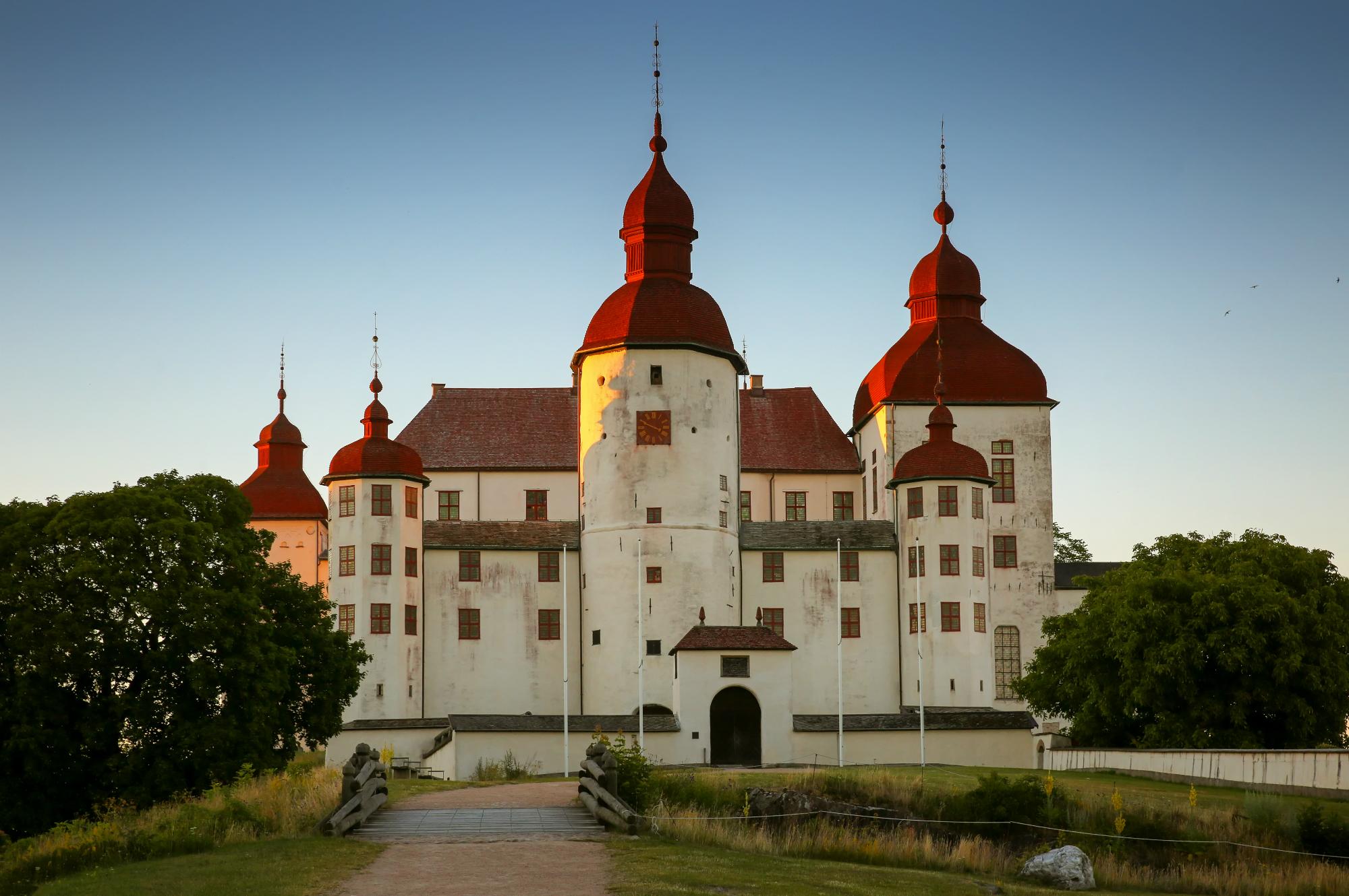 Läckö slott i kvällssol